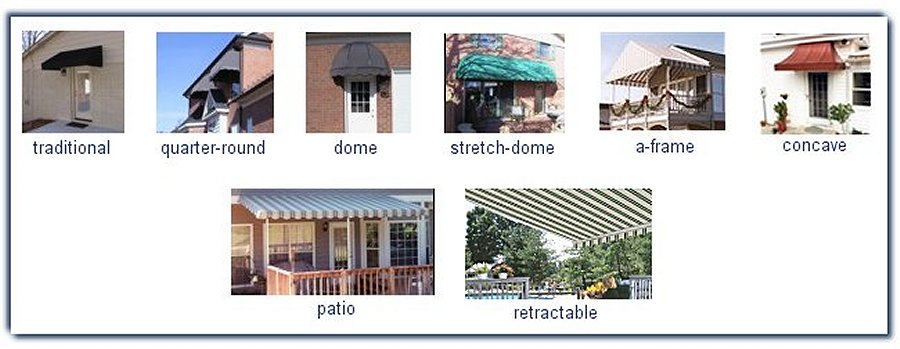 Residential Awning Styles - Annas Awning